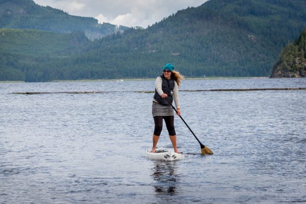 SUP stand up paddleboarding sproat lake vancouver island