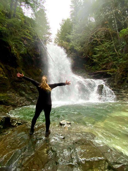 weiner falls, short hike, port alberni vancouver island