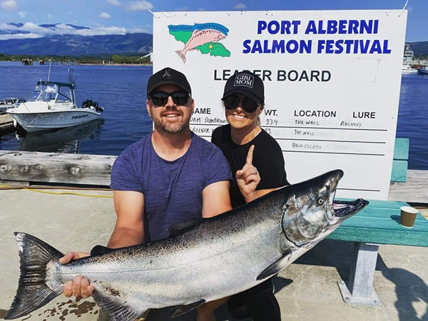 Catch a big fish in Port Alberni on Vancouver Island