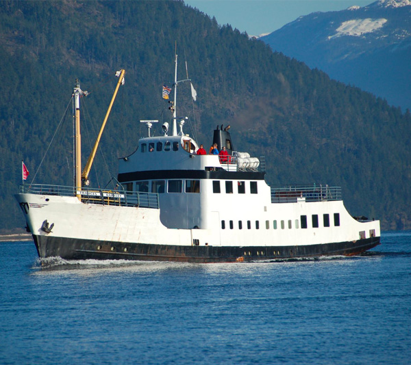 Daytrip on the Frances Barkley, from Port Alberni to Ucluelet